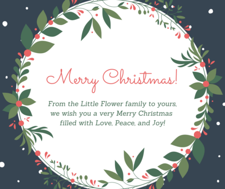 Merry Christmas @ All Little Flower Administrative Offices