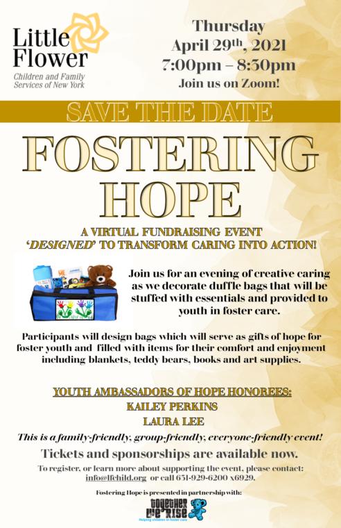Fostering Hope @ Virtual via Zoom