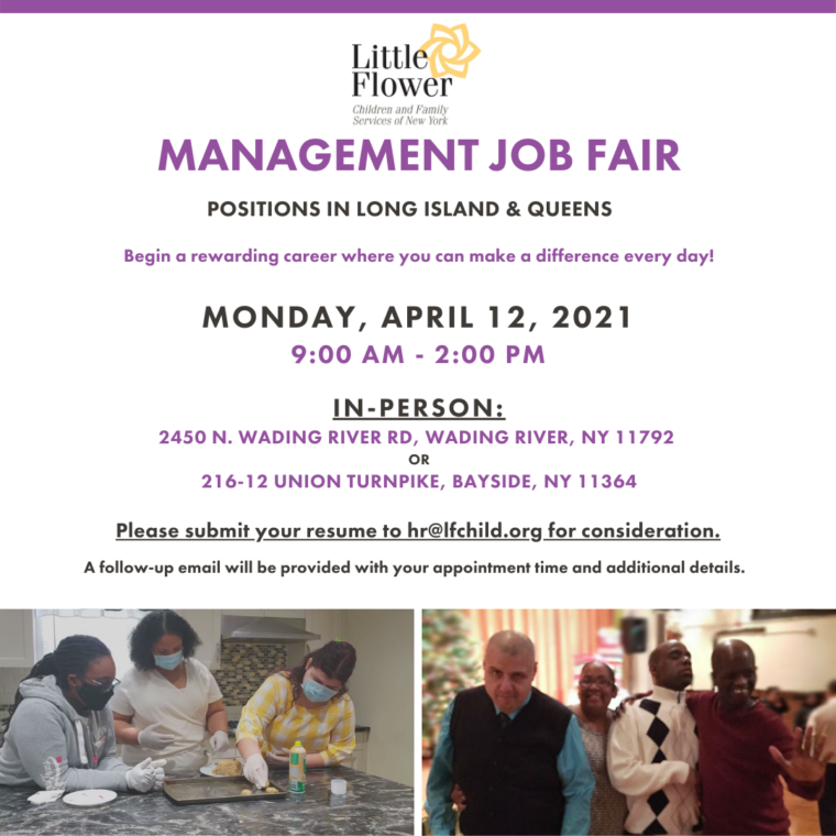 Job Fair @ Wading River Campus or Rose House