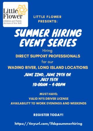 DSP Summer Hiring Event